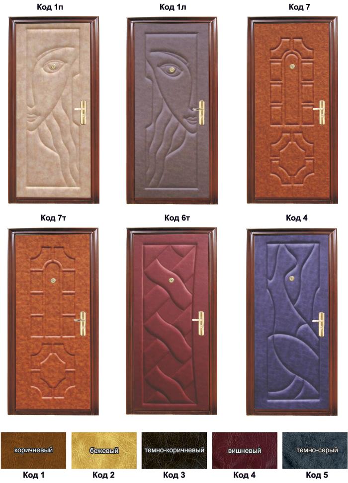 варианты дизайна входных дверей из металла
