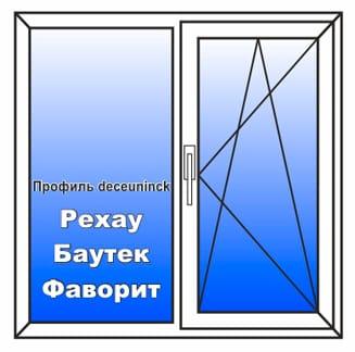 Пластиковое окно 1400x1400 мм